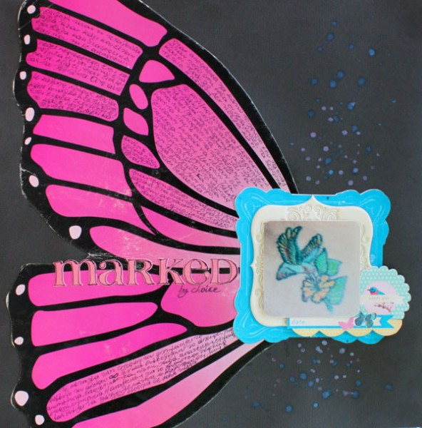 Scrapbook Page Inspiration and Storytelling Ideas from an Unexpected Motif: Wing Detail  | Kiki Kougioumtzi | Get It Scrapped