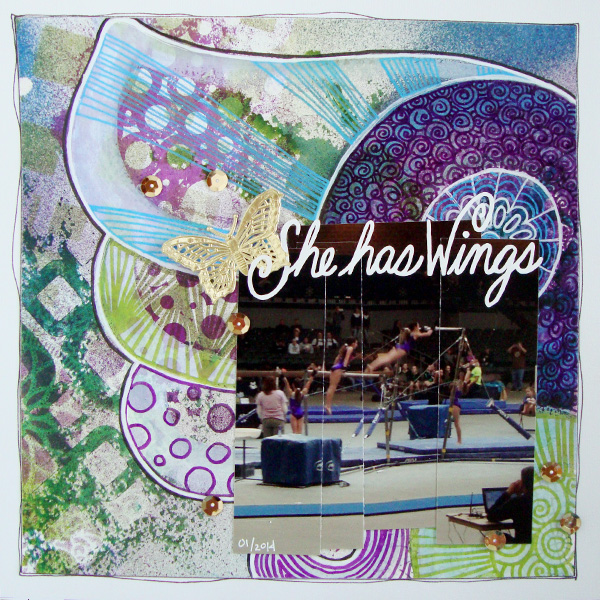 Scrapbook Page Inspiration and Storytelling Ideas from an Unexpected Motif: Wing Detail  | Michelle Houghton | Get It Scrapped