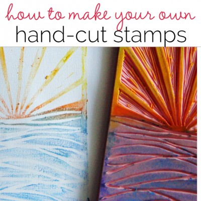 Mixed Media with Michelle Houghton | How to Make Your Own Stamps