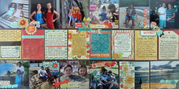 Scrapbooking Ideas for Summarizing a Vacation on One Layout | Michelle Houghton | Get It Scrapped