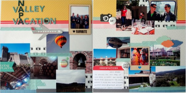Scrapbooking Ideas for Summarizing a Vacation on One Layout | Susanne Brauer | Get It Scrapped
