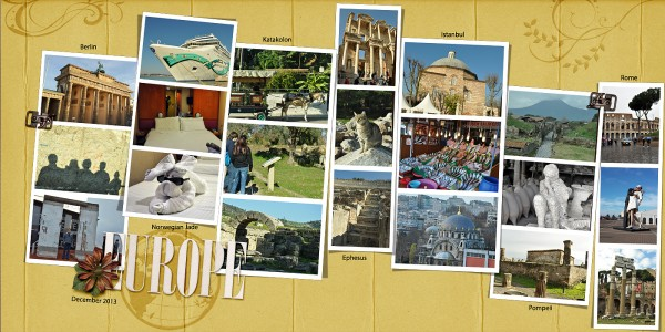 Scrapbooking Ideas for Summarizing a Vacation on One Layout | Stefanie Semple | Get It Scrapped