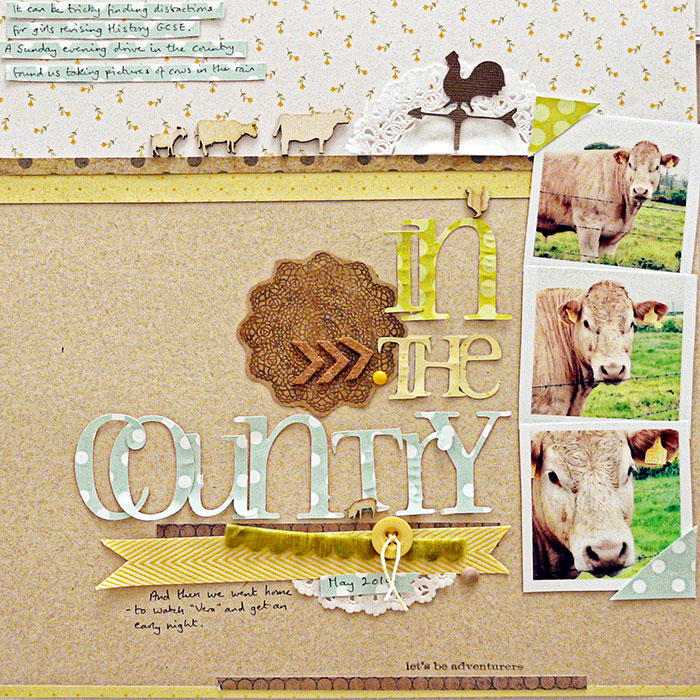 How to Push Your Scrapbook Page Pattern Story |Sian Fair | Get It Scrapped