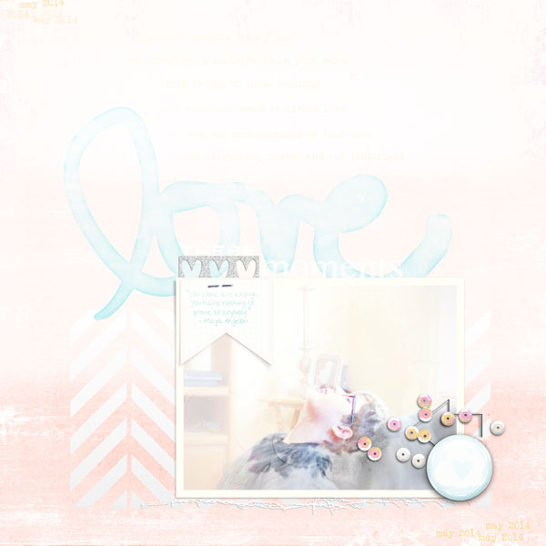 Ideas for a Scrapbooking Color Scheme of White Suffused Pastels and Metallic Accents | Carrie Arick | Get It Scrapped