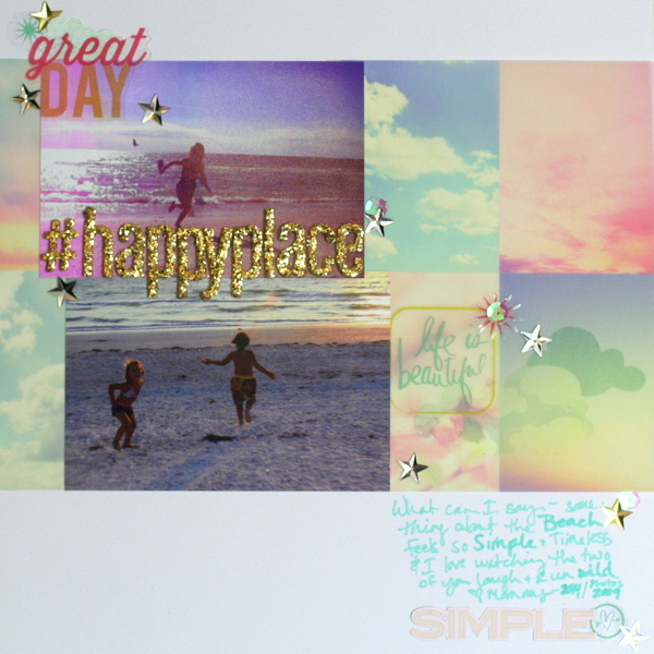 Ideas for a Scrapbooking Color Scheme of White Suffused Pastels and Metallic Accents | Katie Scott | Get It Scrapped