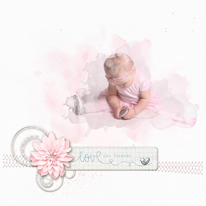 Ideas for a Scrapbooking Color Scheme of White Suffused Pastels and Metallic Accents | Vicki Hibbins | Get It Scrapped