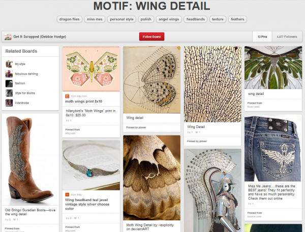 Scrapbook Page Inspiration and Storytelling Ideas from an Unexpected Motif: Wing Detail  | Get It Scrapped