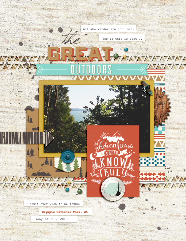 How to Push Your Scrapbook Page Pattern Story |Amy Kingsford | Get It Scrapped