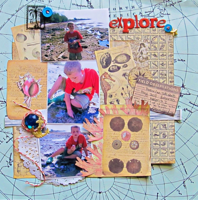 Ideas for Scrapbook Page Storytelling with a Curated Natural History Style | Christy Strickler | Get It Scrapped