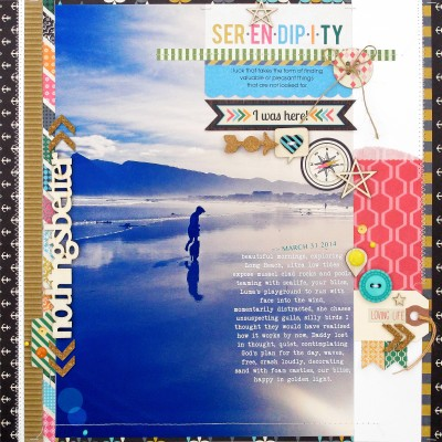 Ideas for Scrapbook Page Storytelling with Full-Width and Full-Height Photos | Kim Watson | Get It Scrapped