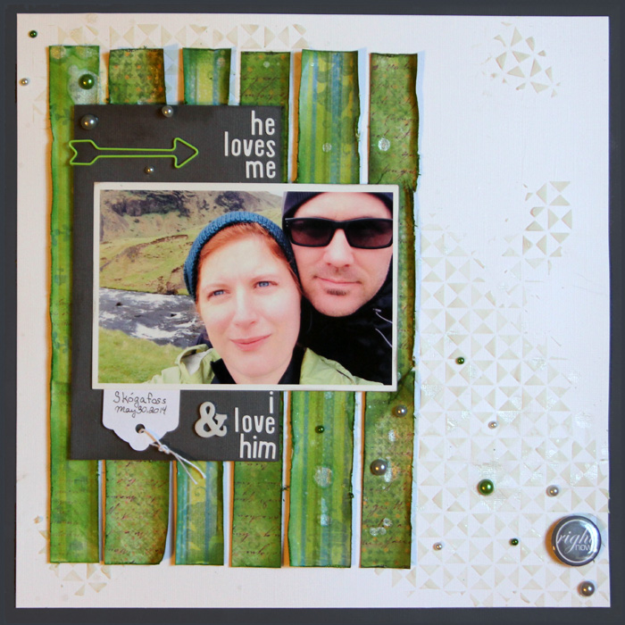 Let Patterned Paper and Color Decide Your Scrapbook Page Story | Gretchen Henninger | Get It Scrapped