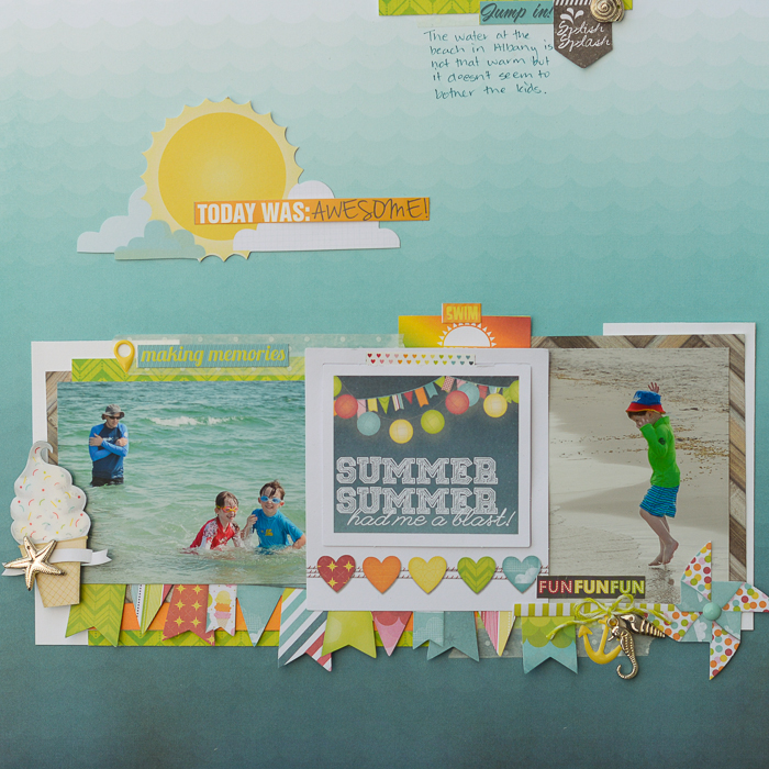 How to Pile New and Trendy Products On Scrapbook Pages and Still Tell A Story |Kristy T | Get It Scrapped