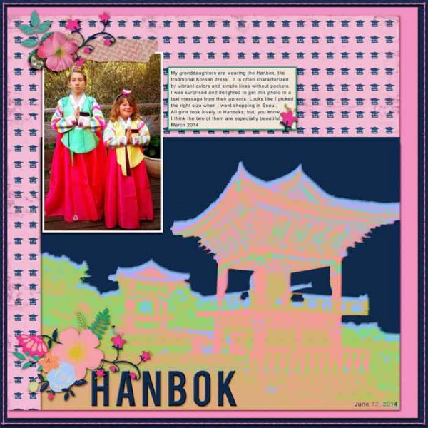 A Pink and Navy Scrapbook Page Color Scheme Recasts Primary Colors  Karen Poirier-Brode   Get It Scrapped