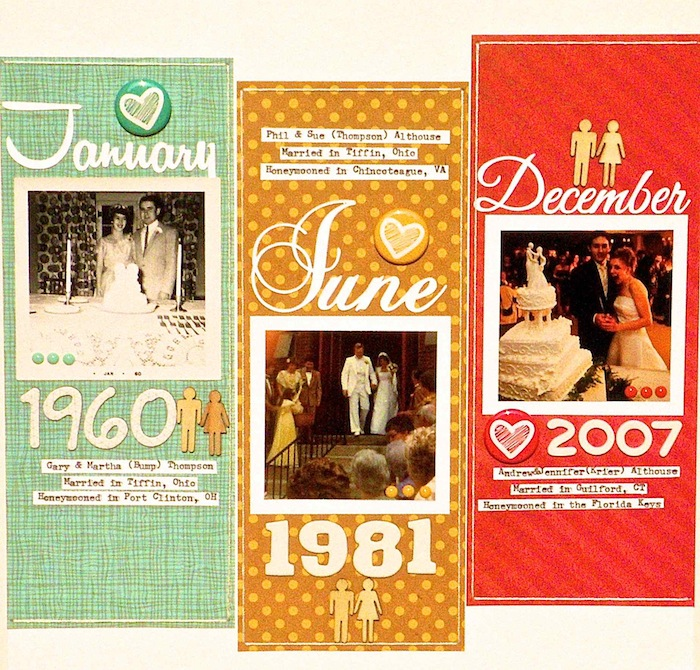 Ideas for Scrapbook Page Storytelling with a Timeline | Sue Althouse | Get It Scrapped