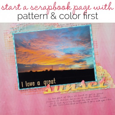 Let Patterned Paper and Color Decide Your Scrapbook Page Story | Get It Scrapped