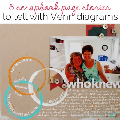 3 Scrapbook Page Stories You Can Tell with a Venn Diagram