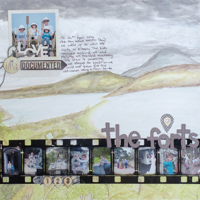 Scrapbook Page Storytelling When Setting is Key | Kristy T | Get It Scrapped