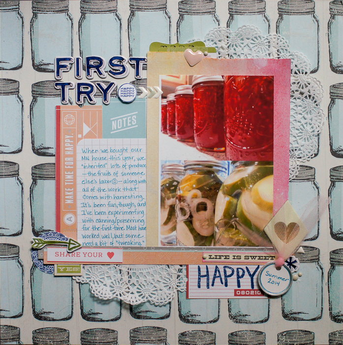 Scrapbook Page Design Embellishing with a Visual Triangle and Visual Hierarchy   Marcia Fortunato   Get It Scrapped