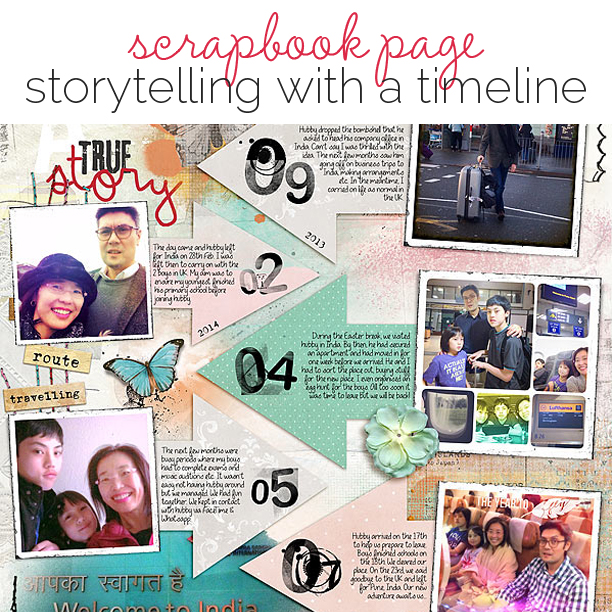 Ideas for Scrapbook Page Storytelling with a Timeline | Get It Scrapped