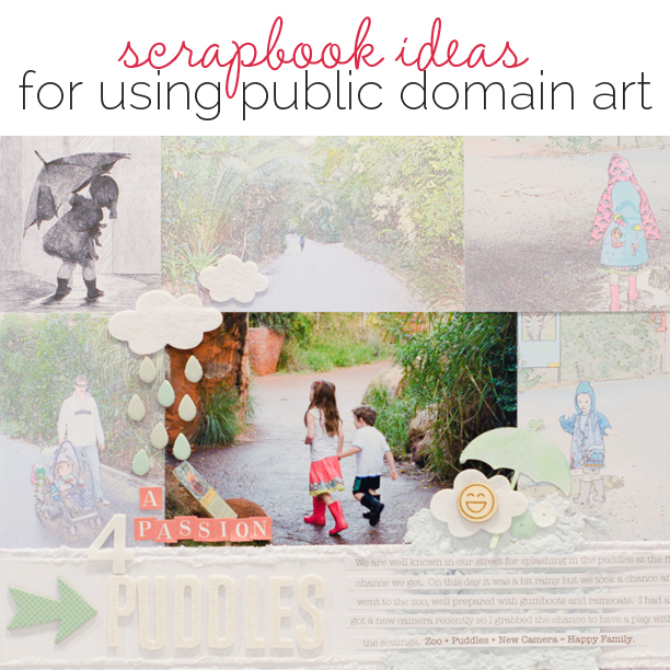 Ideas for Scrapbooking with Art in the Public Domain | Get It Scrapped