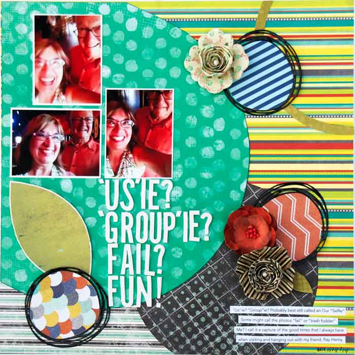 On-Trend Scrapbooking Ideas for Making Your Own Big-Dot Pattern | Karen Poirier-Brode | Get It Scrapped
