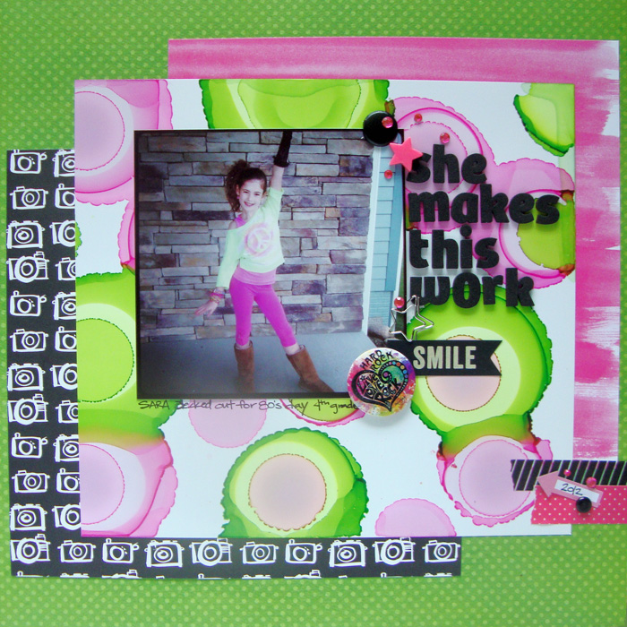 On-Trend Scrapbooking Ideas for Making Your Own Big-Dot Pattern | Michelle Houghton | Get It Scrapped