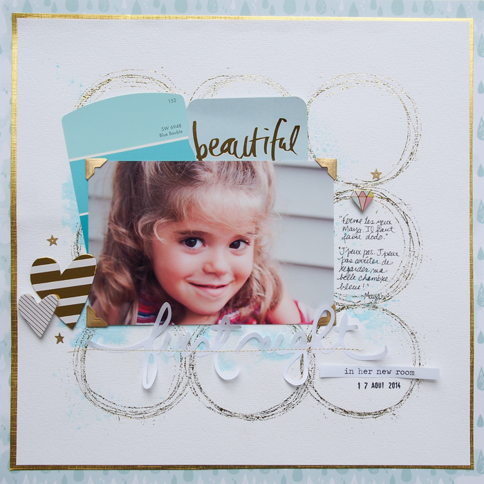 On-Trend Scrapbooking Ideas for Making Your Own Big-Dot Pattern | Marie-Pierre Capistran | Get It Scrapped