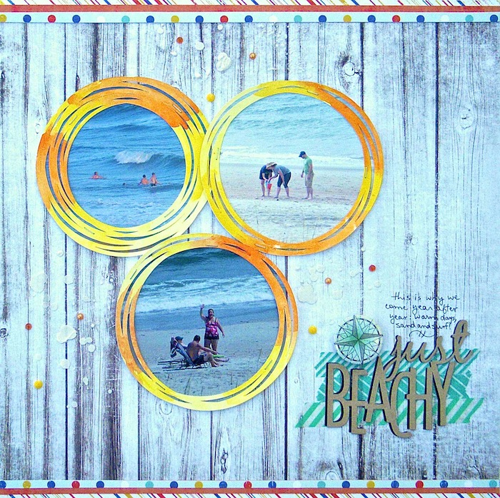 On-Trend Scrapbooking Ideas for Making Your Own Big-Dot Pattern | Sue Althouse | Get It Scrapped