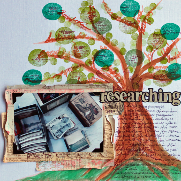 Ideas for Scrapbook Page Storytelling with the Family Tree Motif | Kiki Kougioumtzi  Get It Scrapped