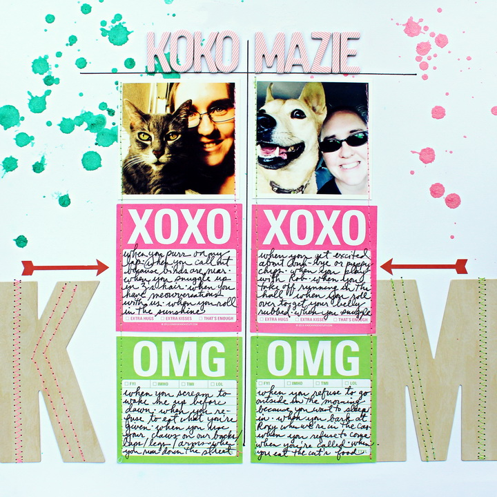 Scrapbook Page Sketch and Layered Template #96 | Layout by Jill Sprott | Get It Scrapped