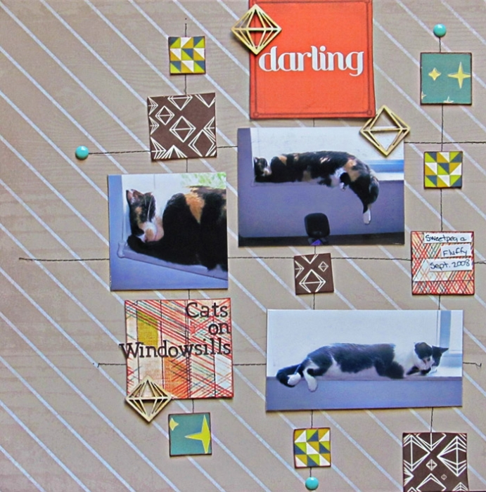 Ideas for Trendy Scrapbook Page Design based on the Mid-Century Modern Style|Christy Strickler |Get It Scrapped