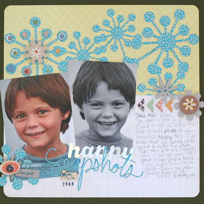 Ideas for Trendy Scrapbook Page Design based on the Mid-Century Modern Style | Katie Scott | Get It Scrapped