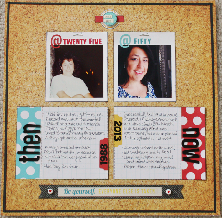 Scrapbook Page Sketch and Layered Template #96 | Layout by Jett Hampton | Get It Scrapped