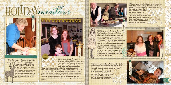 Ideas for Telling Scrapbook Page Stories about Your Holiday Mentors | Debbie Hodge | Get It Scrapped