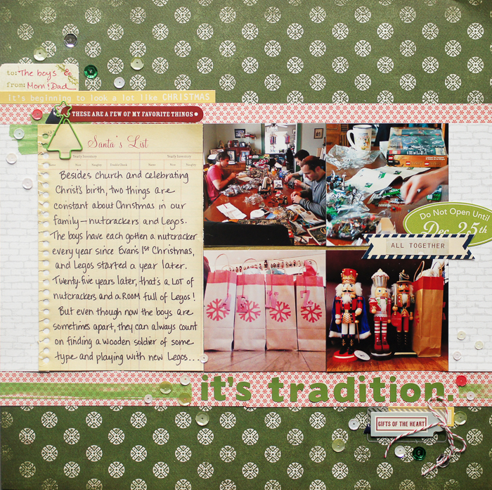 Ideas for Scrapbooking Christmas Pages with Your Stash | Marcia Fortunato | Get It Scrapped