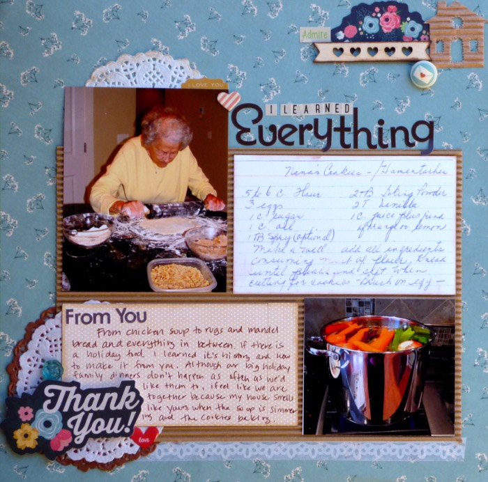 Ideas for Telling Scrapbook Page Stories about Your Holiday Mentors | Devra Hunt | Get It Scrapped