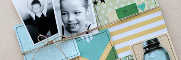 4 Design Elements that add Scrapbook Page Polish: Color, Texture, Pattern & Shine