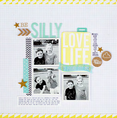 Scrapbook Page Sketch and Layered Template #97 | Kelly Noel |Get It Scrapped