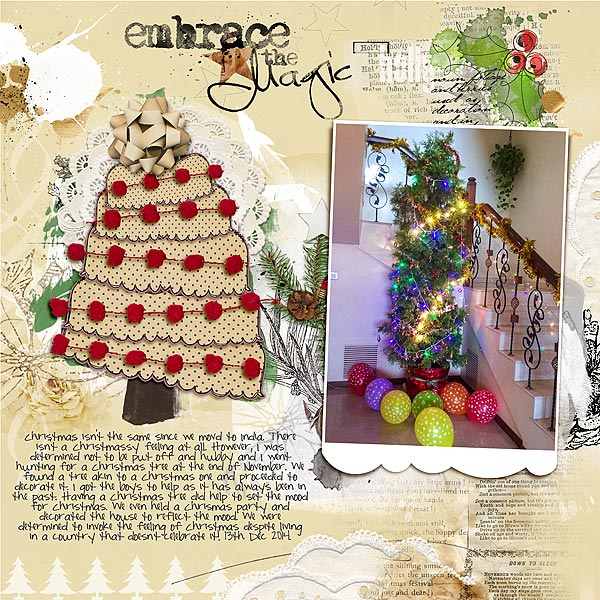 Ideas for Scrapbook Page Storytelling with Scallops | Audrey Tan | Get It Scrapped