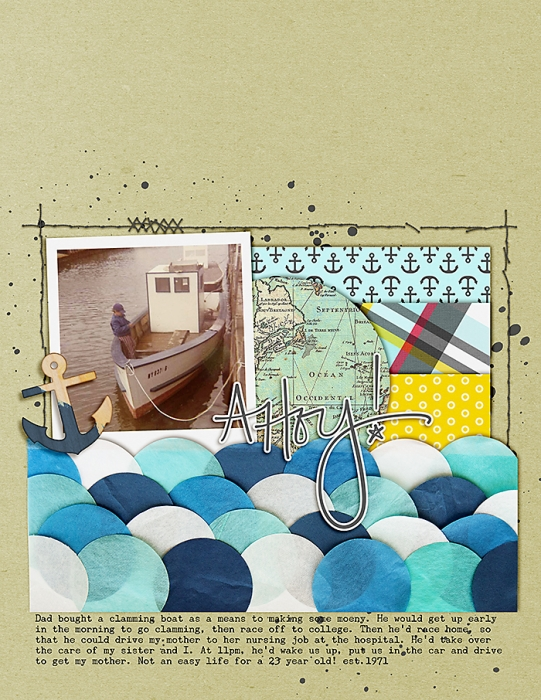 Ideas for Scrapbook Page Storytelling with Scallops | Celeste Smith | Get It Scrapped