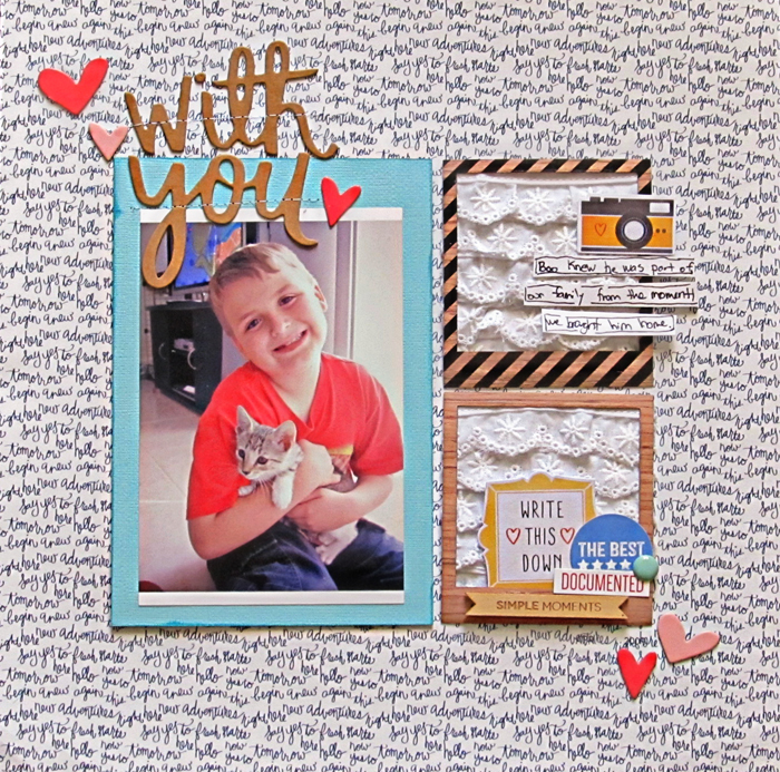 Ideas for Scrapbook Page Storytelling with Scallops | Christy Strickler | Get It Scrapped