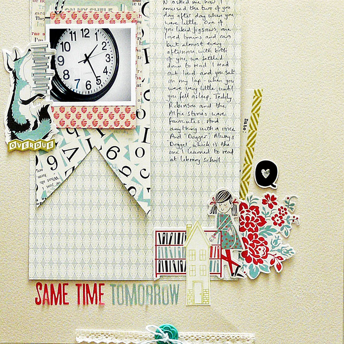 """Some Scrapbook Page Stories are Best Told with a """"Single and Pretty"""" Approach 