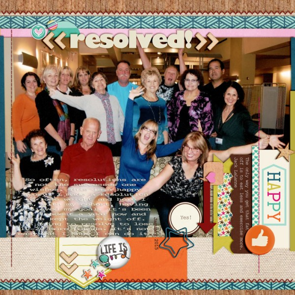Scrapbook Page Sketch and Layered Template #98 | Karen Poirier-Brode | Get It Scrapped