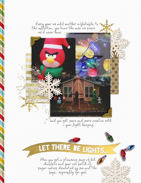 Ideas for Scrapbooking Christmas Pages with Your Stash | Amy Kingsford | Get It Scrapped