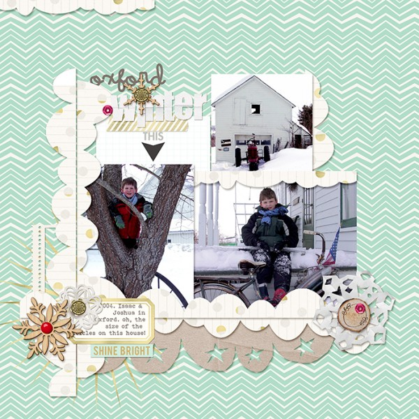 Ideas for Scrapbook Page Storytelling with Scallops | Debbie Hodge | Get It Scrapped