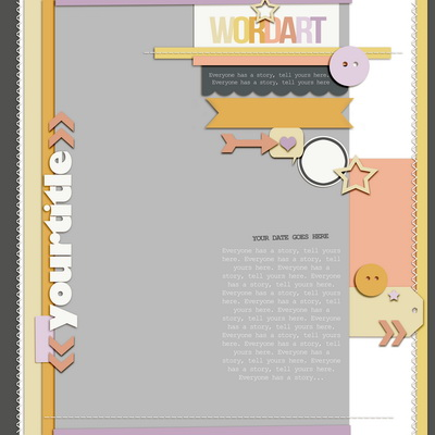 Scrapbook Page Sketch and Layered Template #98 | Get It Scrapped