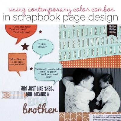 Idea Round Up | 5 Scrapbook Page Color Scheme Ideas | Get It Scrapped