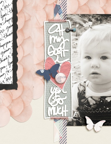 Ideas for Scrapbook Page Storytelling with Scallops | Amy Kingsford | Get It Scrapped
