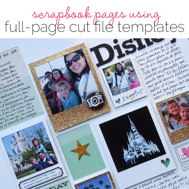 Make Multi-Photo Scrapbook Pages With Silhouette Photo-Mat Cut Files| Get It Scrapped