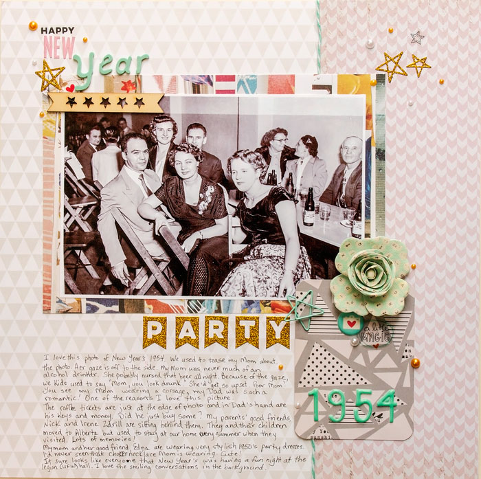 Scrapbooking Heritage Photos with Contemporary Product |Karen Poirier-Brode |Get It Scrapped